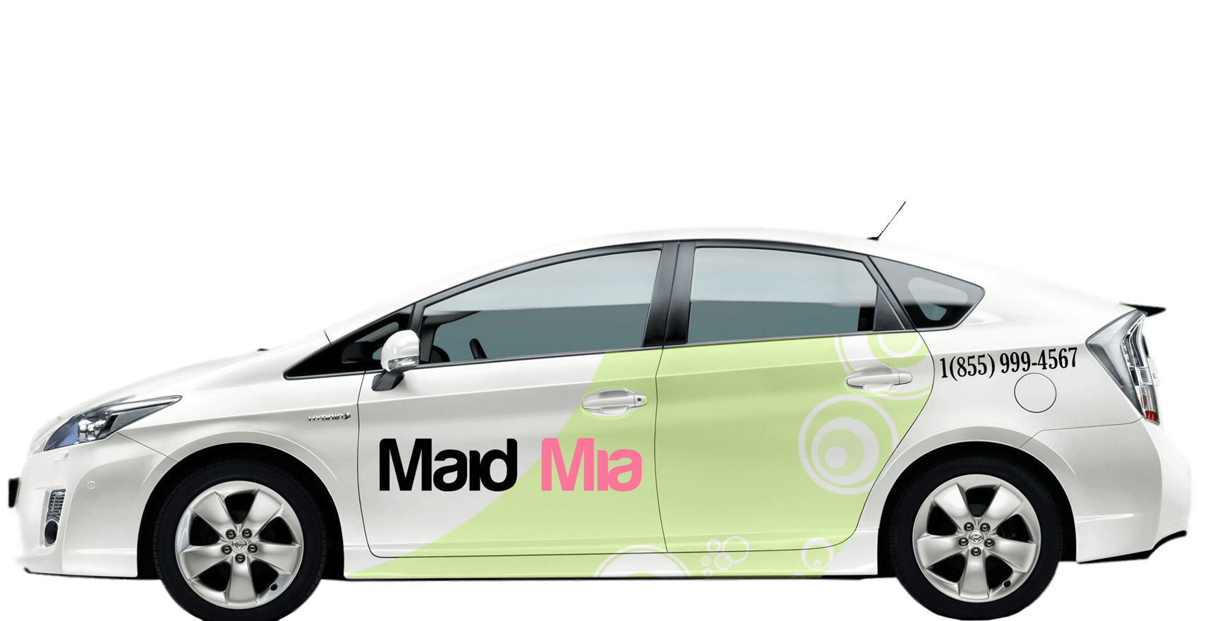 about us About Us maid mia prius car sticker bubble 1