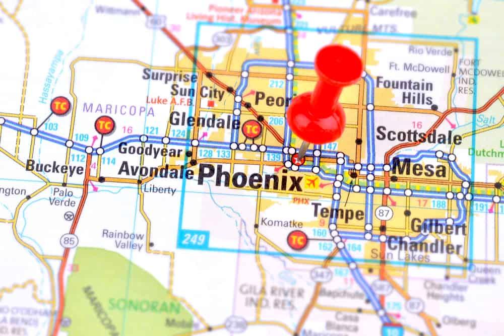 service area Service Area phoenix map