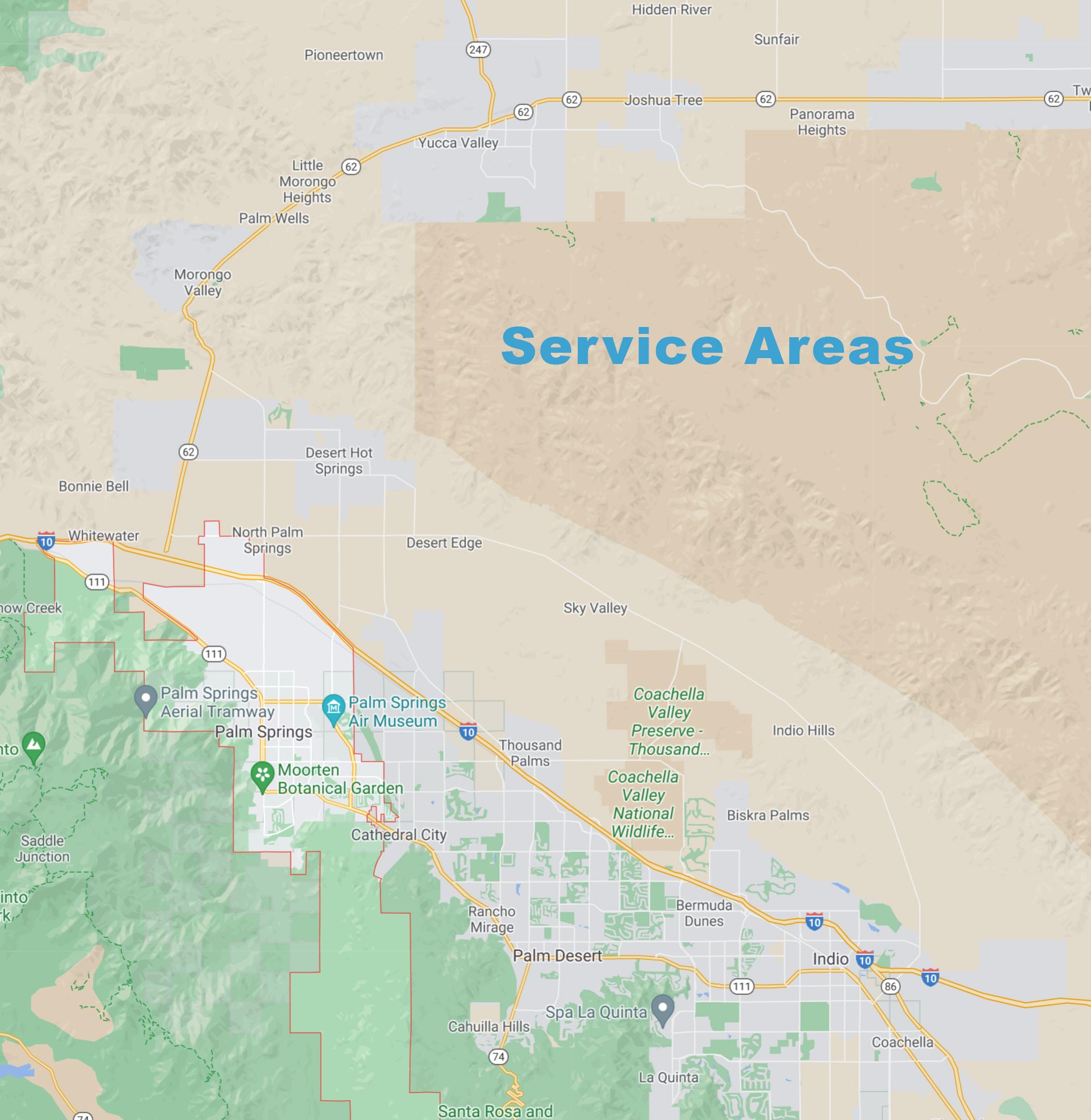 service area Service Area maid mia service map